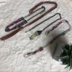 Boho Bead Necklace Set